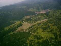 Luftaufnahme zwischen Masserberg und Katzhütte