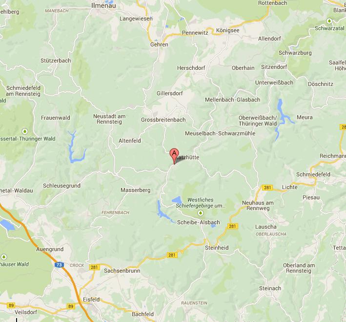Thüringer Wald Karte.Karte Thüringer Wald Pension Zum Ritter