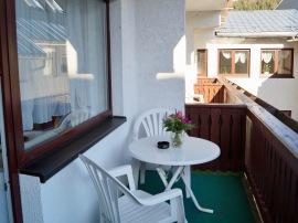 Balkon Gästezimmer Hof- Bergblick