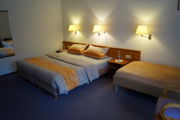 Dreibettzimmer mit Terrasse Gartenblick